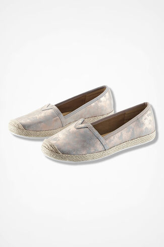 """Sheridan"" Espadrilles by Comfortiva®, Silver, large"