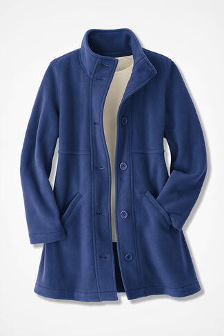 A-line Fleece Coat, India Ink, large