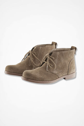 """Journey"" Suede Ankle Boots by Walk With Me™, Tan, large"