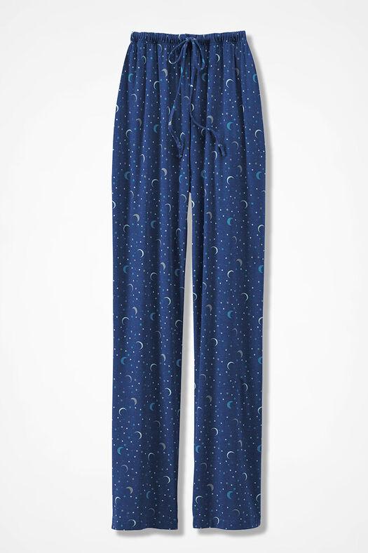 Moon & Stars Knit PJ Pants, India Ink, large