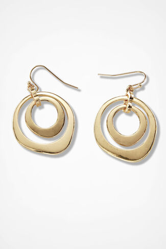 Endless Circles Earrings, Gold, large