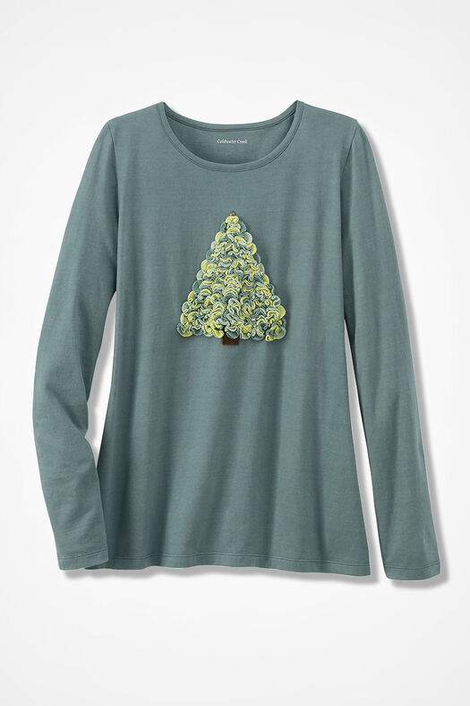 Treasured Tree Holiday Tee, Spruce, large