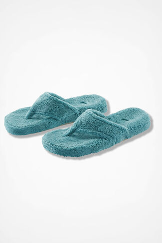 """Spa Thong"" Slippers by Acorn®, Bright Aqua, large"