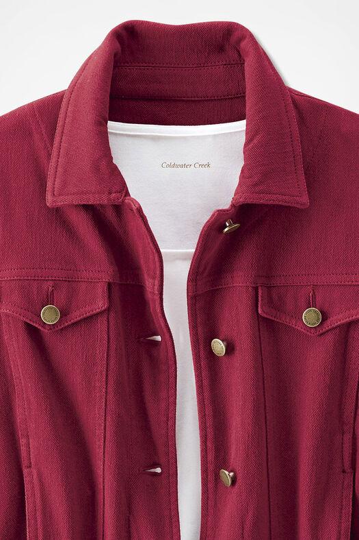 Knit Denim Jacket, Dover Red, large