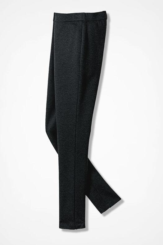 Ponte Perfect® Slim-Leg Leggings, Charcoal Heather, large