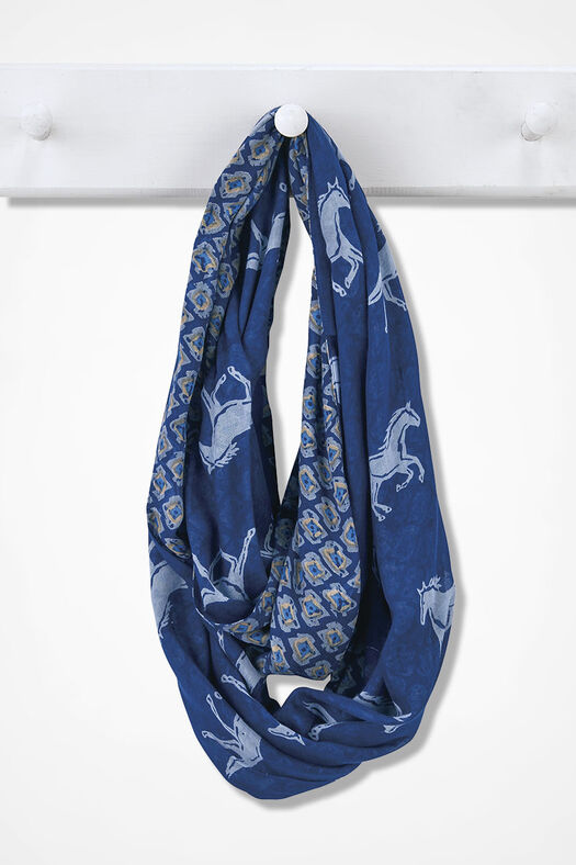 Forever Free Infinity Scarf, Blue Multi, large