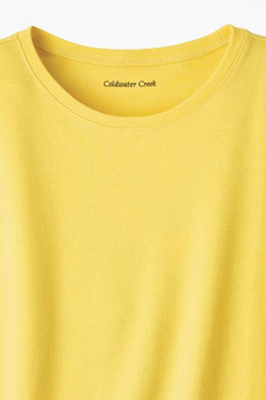 Essential Supima® Crewneck Tee, Canary Yellow, large