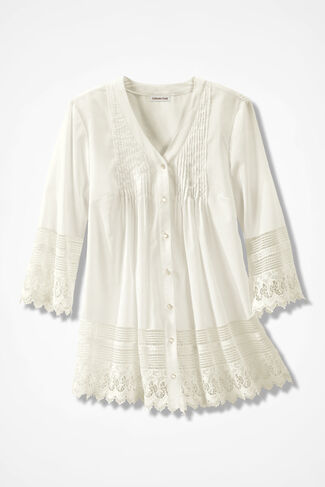 Gracious Lace Blouse, Ivory, large