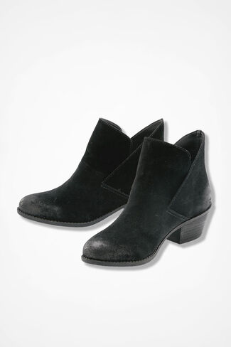 """Zena"" Suede Boots by Adam Tucker, Black, large"