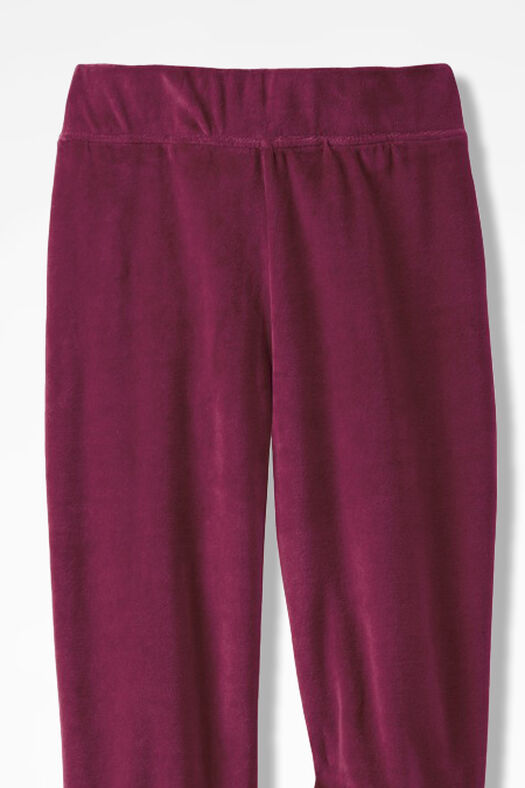 Velour du Jour Straight-Leg Pants, Garnet, large
