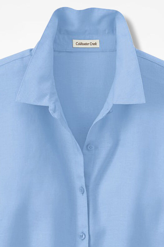 Linen Big Shirt, Pale Blue, large