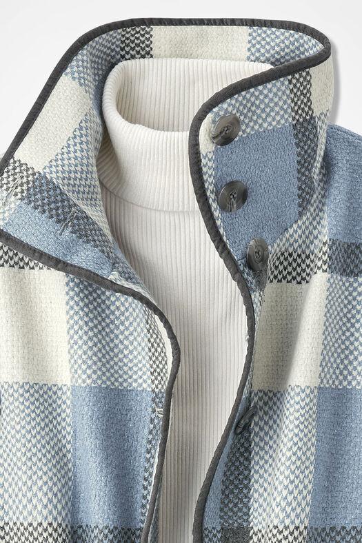 Positively Plaid Coat, Blue Multi, large