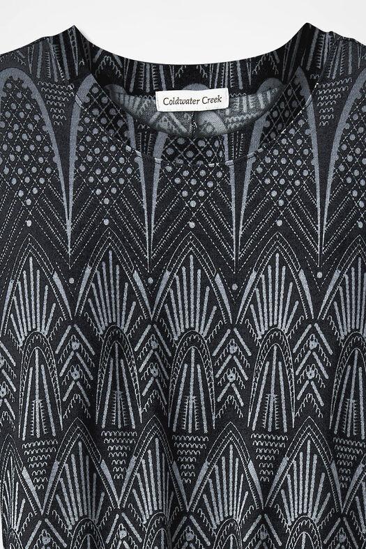 Deco Dimensions Dress, Black Multi, large