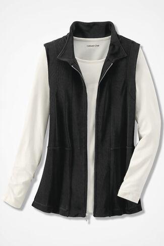 Destinations Zip Vest, Black, large