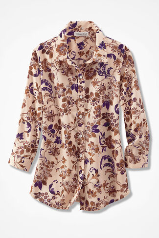 Spiced Floral Easy Care Shirt, Multi, large