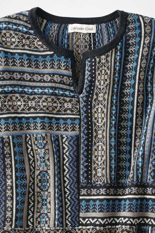 Artisan Patchwork Tunic, Grey Multi, large