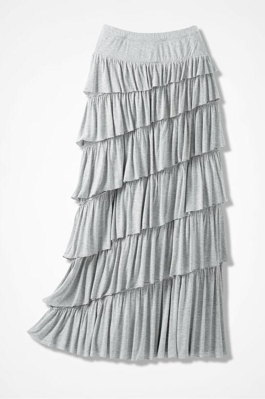 New Angle Maxi Skirt, Mid Heather Grey, large