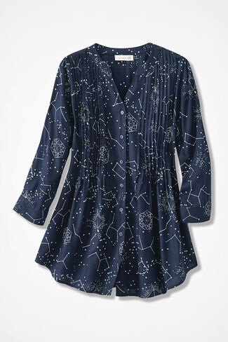 Celestial Wonders Tunic, Navy Multi, large