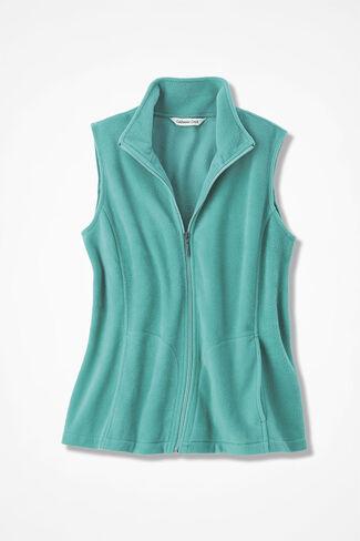 Great Outdoors Fleece Vest, Bright Aqua, large