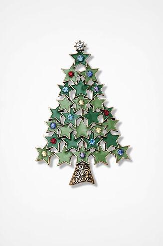 Starshine Tree Pin, Green Multi, large