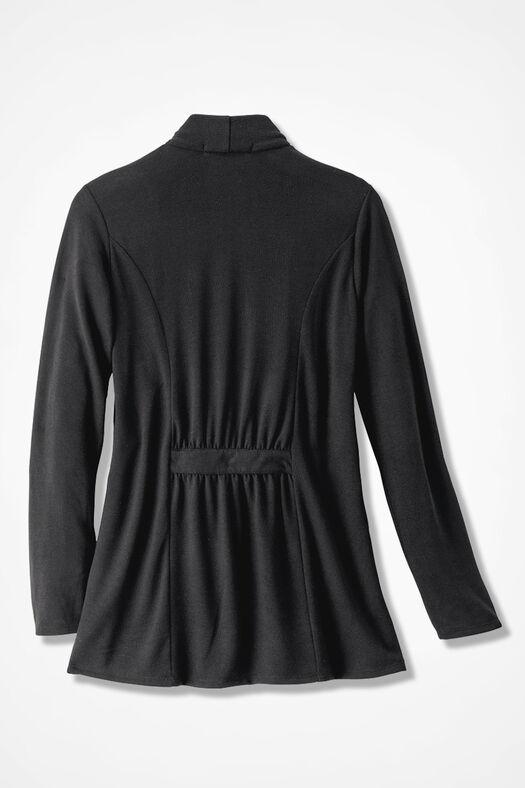 Finishing Touch Knit Cardigan, Black, large