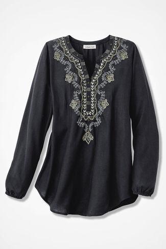 Ventura Embellished Tunic, Black, large