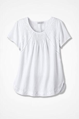 Sonata Embroidered Blouse, White, large