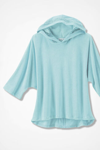 Time for Terry Pullover, Bright Turquoise, large