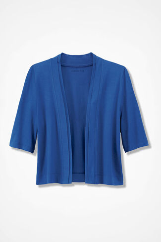 Double Border Jersey Shrug, Cobalt, large