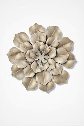 Ornamental Bloom Metal Wall Art, Bronze, large
