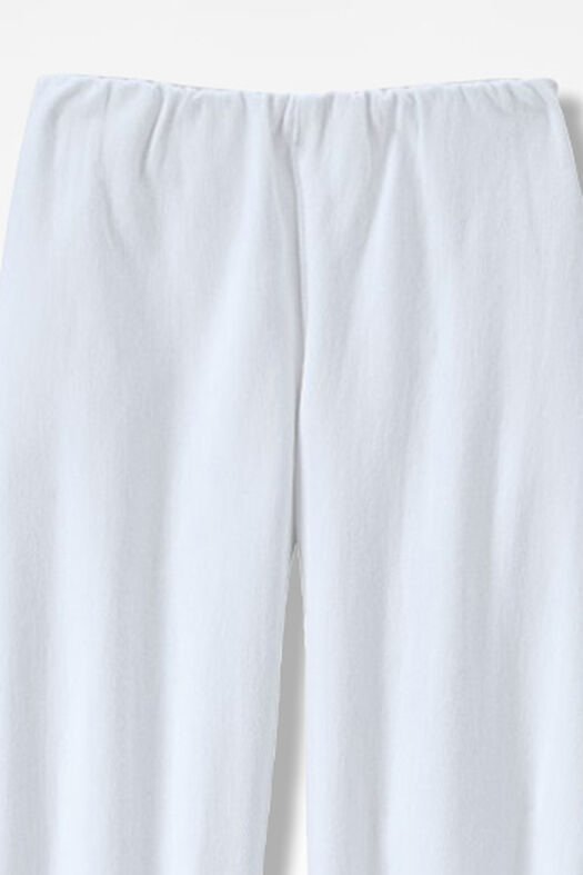 Knit Denim Cropped Slim-Leg Leggings, White, large