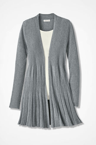 Misty Mountain Cardigan Sweater, Mid Heather Grey, large