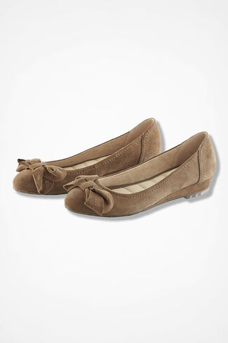 """Martina"" Suede Mini-Wedges by Me Too®, Tan, large"