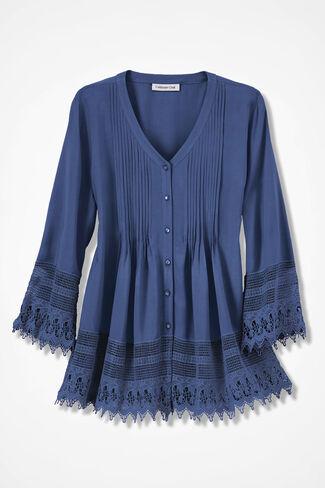Gracious Lace Blouse, Ranch Blue, large