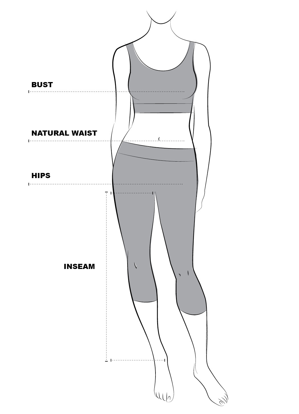 Womens clothing sizesizing chart pant inseams are measured from the top of the inside crotch seam to the hem nvjuhfo Gallery