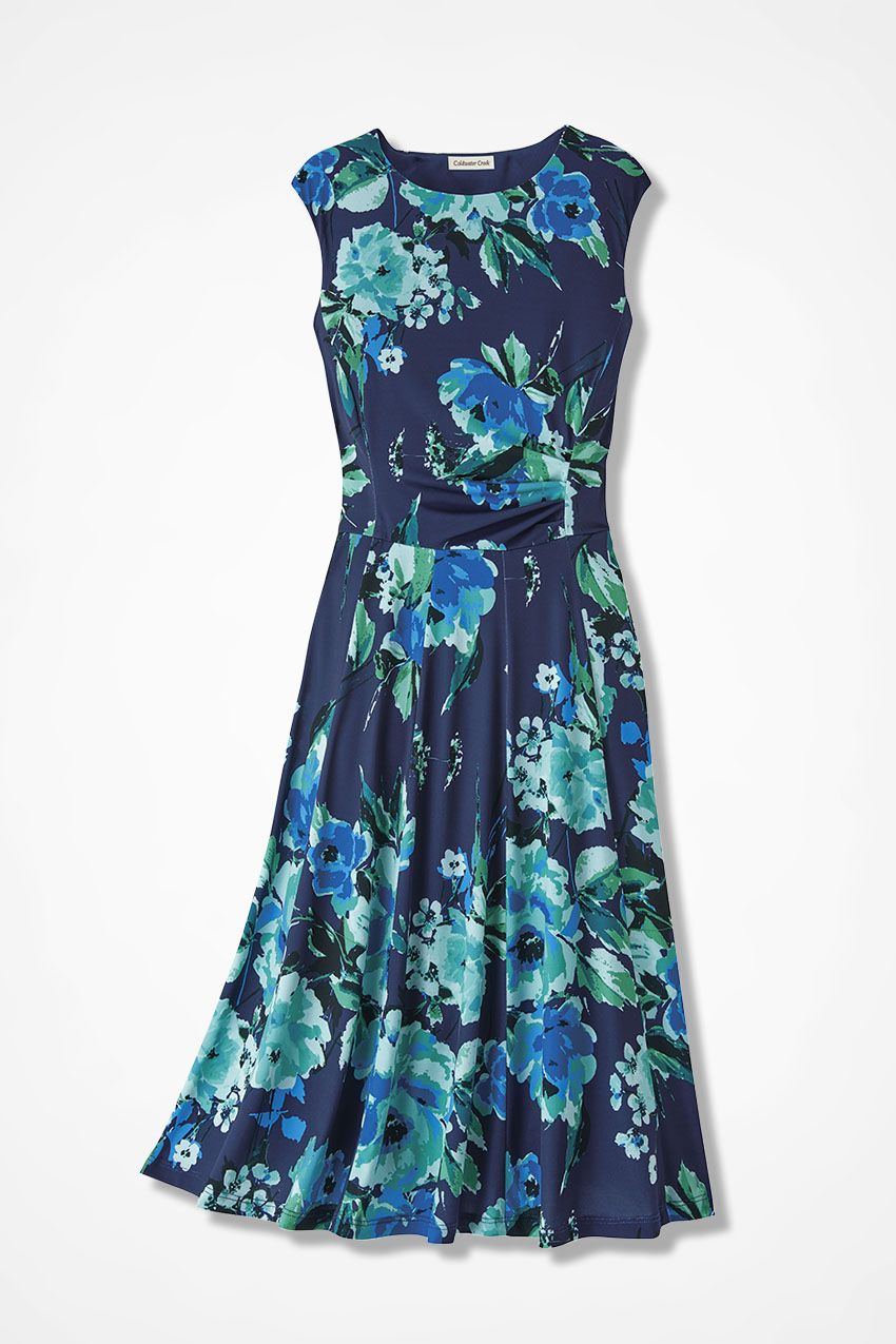 Party of Two Floral Print Dress - Coldwater Creek