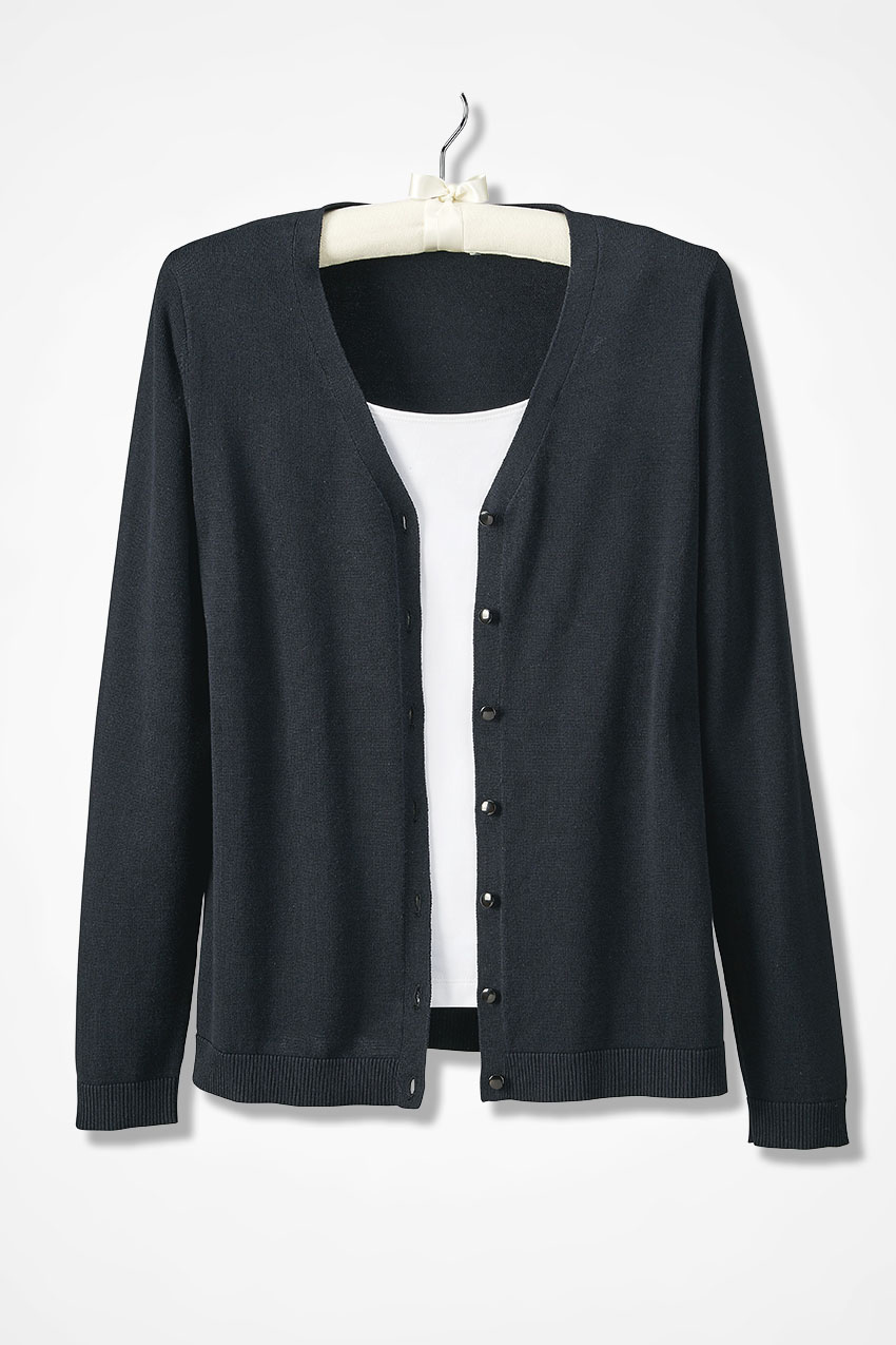 Day-to-Day Long Sleeve Cardigan - Coldwater Creek