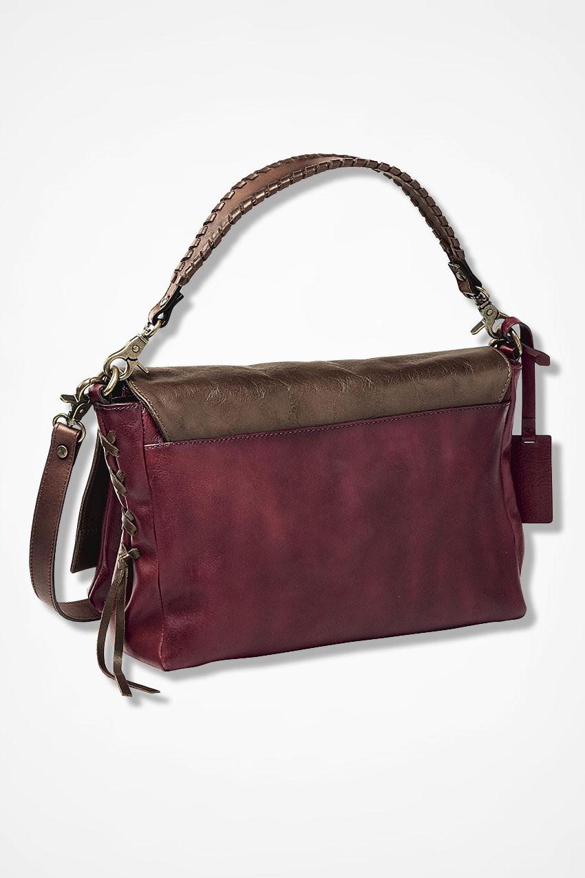 Tri-Color Leather Messenger Bag by Pikolinos® - Coldwater Creek 2faa5ccef