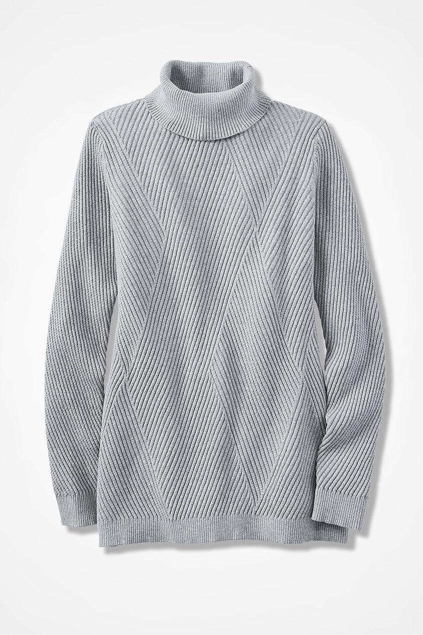 Diamond Rib Tunic Sweater - Coldwater Creek