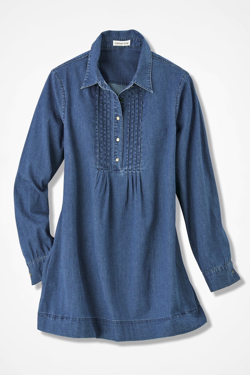 Tucked Denim Tunic Coldwater Creek