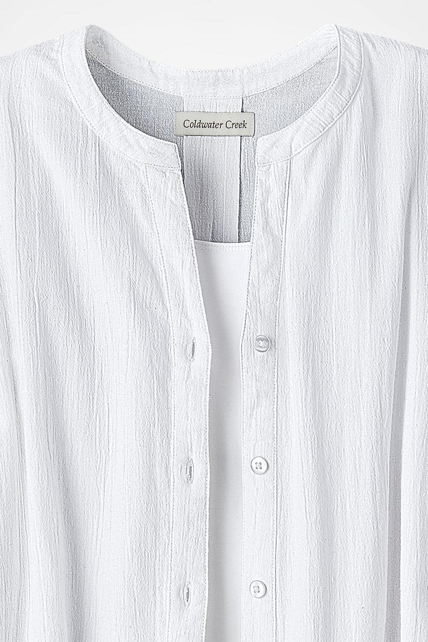 Crinkle Cotton Big Shirt Coldwater Creek