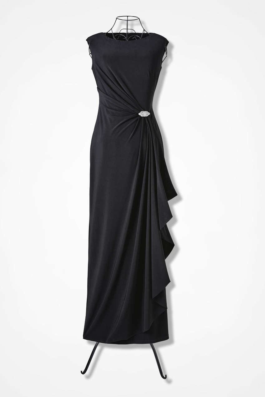 Evening Dress Black Large