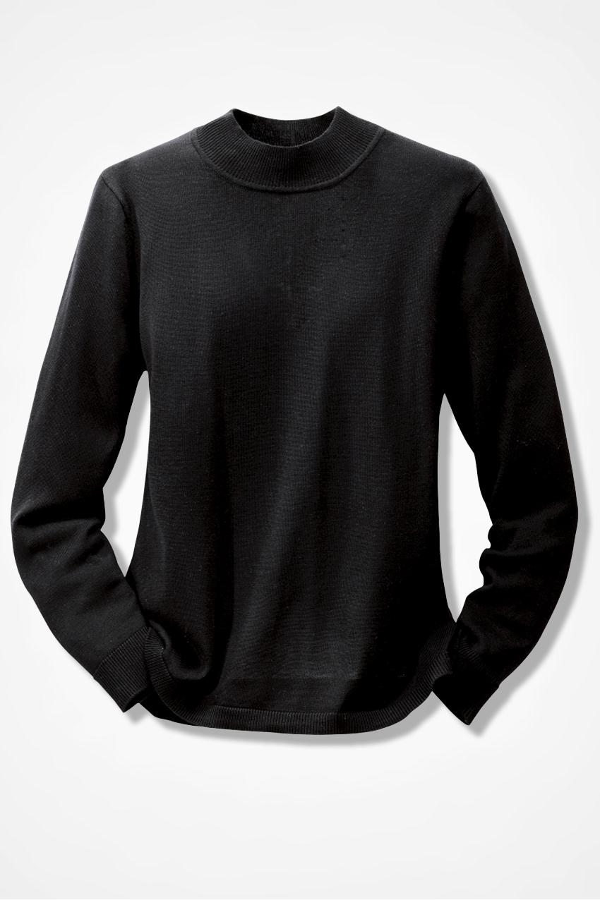 Silk Cotton Mockneck Sweater - Sweaters | Coldwater Creek