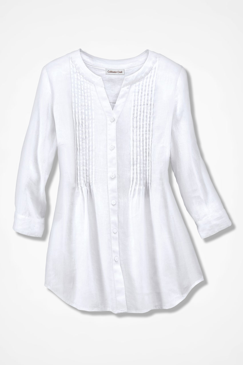 Tucked Linen Tunic Coldwater Creek