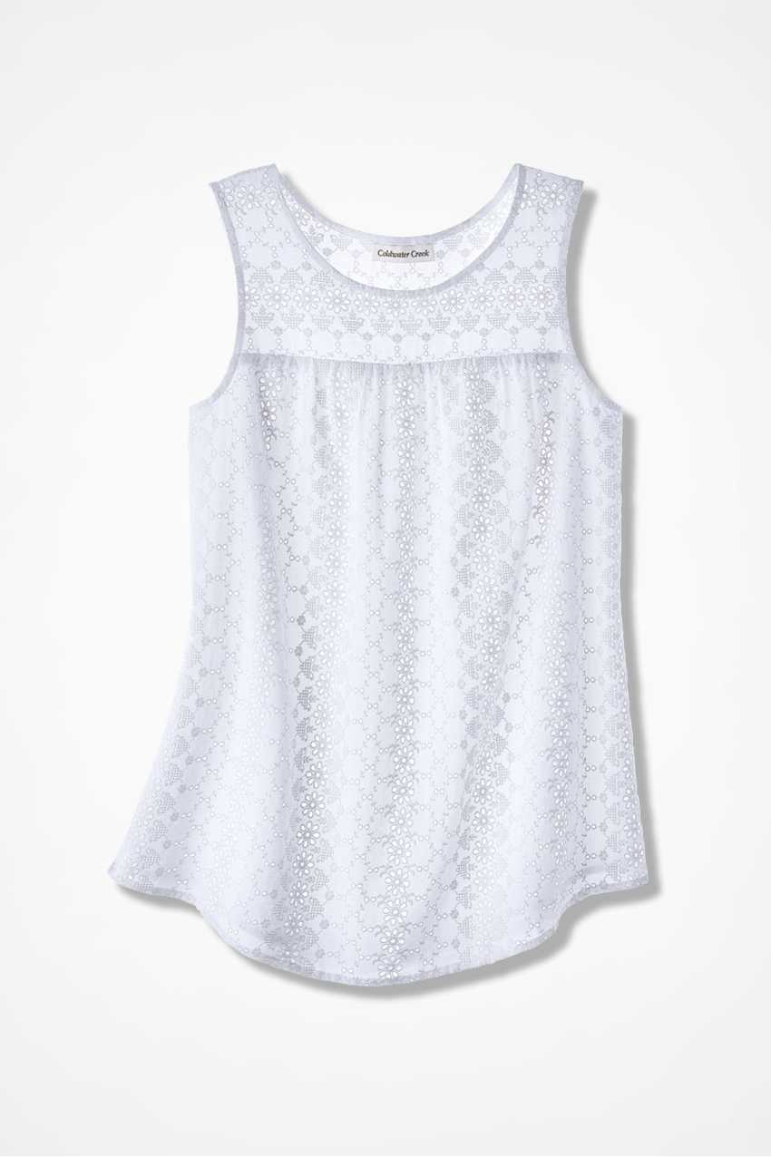 All About Summer Eyelet Blouse Coldwater Creek