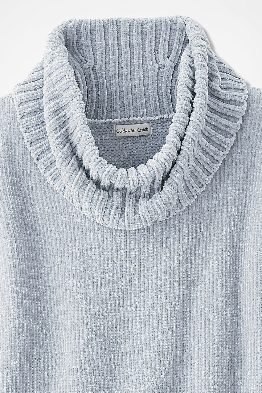 Rib-Sleeve Chenille Pullover - Coldwater Creek
