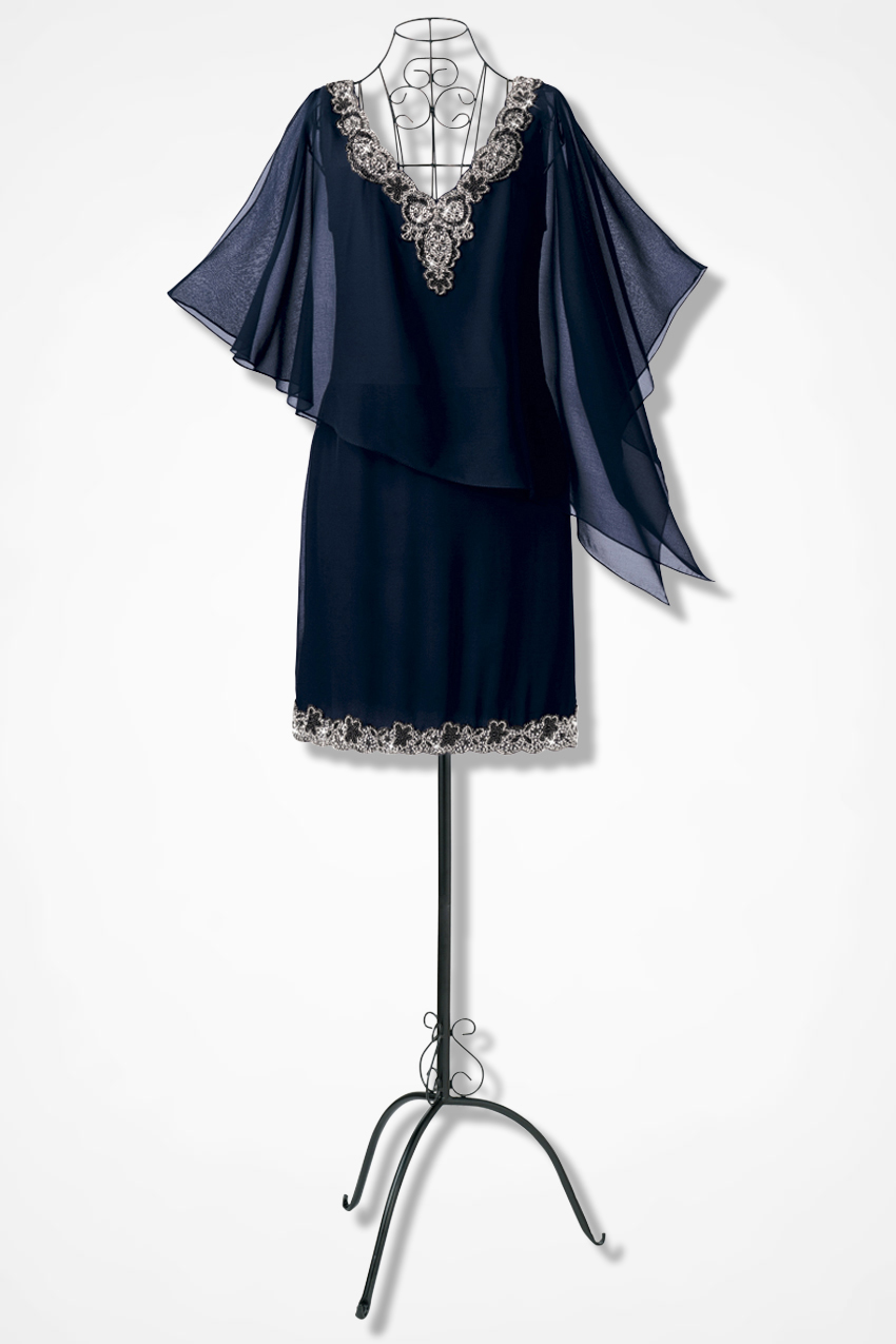 Asymmetrical Capelet Dress By Jkara Coldwater Creek