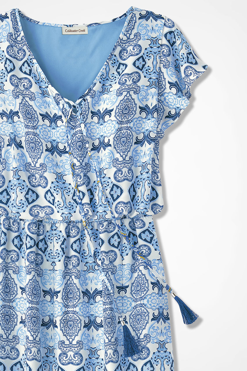 Blue Tiles Maxi Dress - Coldwater Creek
