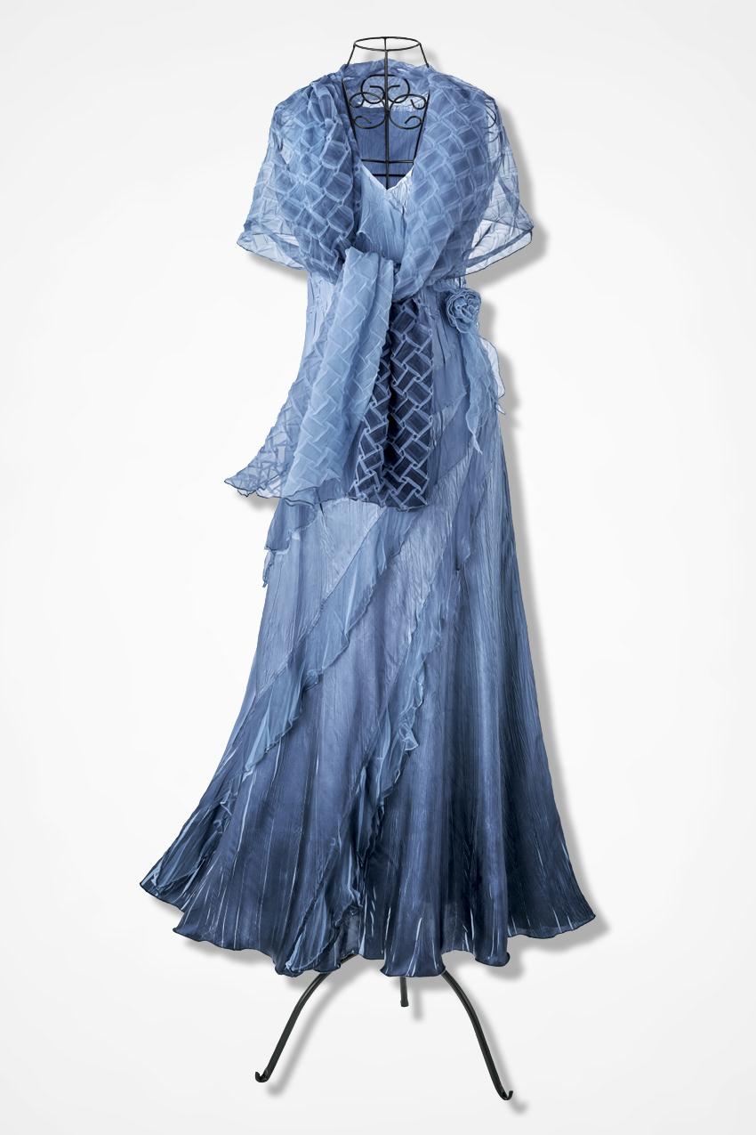 Ruffles Romance Chiffon Dress By Komarov Coldwater Creek