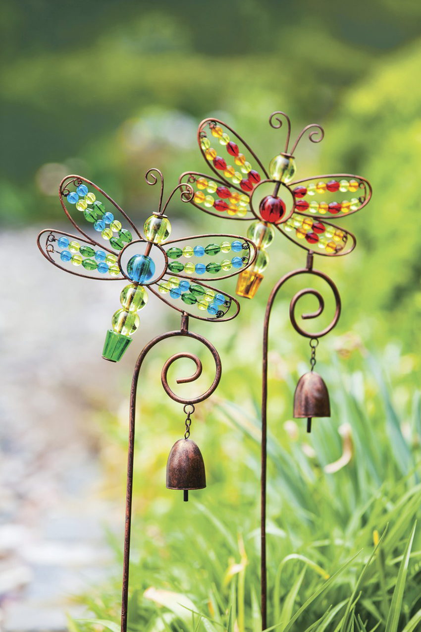 Ordinaire Dragonfly Garden Stakes, Multi, Large